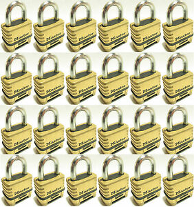 Combination Lock Set By Master 1175 lot Of 24 Resettable Brass Sealed Carbide