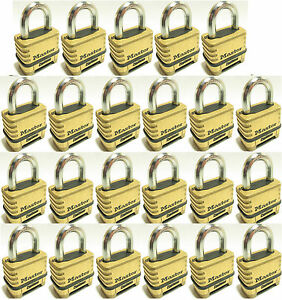 Combination Lock Set By Master 1175 lot Of 23 Resettable Brass Sealed Carbide