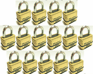 Combination Lock Set By Master 1175 lot Of 15 Resettable Brass Sealed Carbide