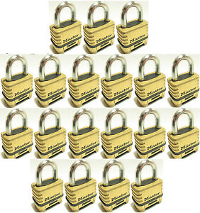 Combination Lock Set By Master 1175 lot Of 19 Resettable Brass Sealed Carbide
