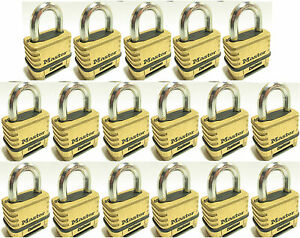 Combination Lock Set By Master 1175 lot Of 17 Resettable Brass Sealed Carbide