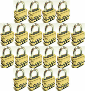 Combination Lock Set By Master 1175 lot Of 20 Resettable Brass Sealed Carbide