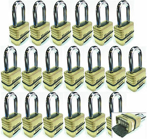 Combination Lock Set Master 1175lh lot 19 Resettable Long Brass Sealed Carbide