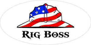 3 Rig Boss Us Flag Hard Hat Union Oilfield Toolbox Helmet Sticker H233
