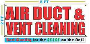 Air Duct Vent Cleaning Banner Sign New Larger Size Best Quality For The