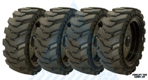10x16 5 Tires And Wheels set Of 4 31x10x20 Fits Skid Steer For Bobcats