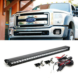 150w 30 Cree Led Light Bar W Lower Bumper Bracket Wire For 2011 16 F250 F350