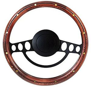 New Hot Rod Street Rod Rat Rod W Ididit Gm Column Wood Steering Wheel Kit
