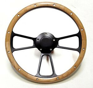 Hot Rod Steering Wheel Kit For Flaming River Ididit Columns Real Oak Wood Usa