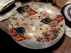 Antique Japanese Imari 18 1 2 Charger Pretty Birds Lovely