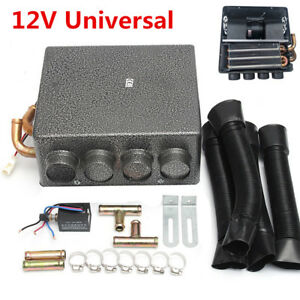 12v Copper Underdash Compact Heater Heat 12pc Pure Copper Tube speed Switch Grey