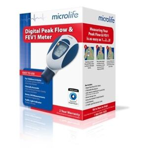 Microlife Pf100 Peak Flow Meter For Spirometry With Fev1