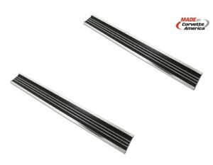 68 77 Corvette C3 New Door Sill Plate Set Plates Pair Two Set