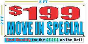 199 Move In Special Banner Sign Apartment House Office Building Rent Storage