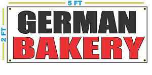 German Bakery Banner Sign New Size Best Quality For The Money