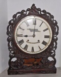 Antique Rossiter Weston Super Mare E N Welch Clock Regulator Working Carved Wood