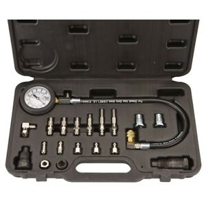 Diesel Engine Compression Cylinder Pressure Tester Gauge Set 0 1000 Psi Ford Gm