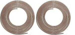 Copper Nickel Brake Line Tubing Kit 3 16 And 1 4 25 Ft Coil Rolls W 20 Fittings