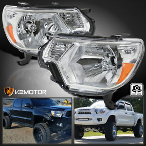 For 2012 2015 Toyota Tacoma Head Lights Lamps Pickup Factory Replacement L r