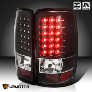 Black For 2000 2006 Chevy Suburban Tahoe Gmc Yukon Denali Led Tail Lights Pair
