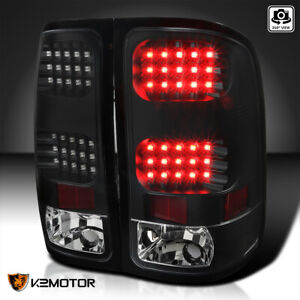 Black 2007 2014 Gmc Sierra 1500 2500 3500 Led Tail Lights Brake Lamps Left right