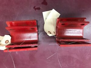 Pair Of Skid Shoes And Brackets For Massey Ferguson 1026 Front Blade
