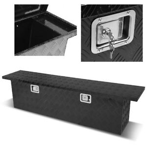 60 Heavy Duty Black Aluminum Pickup Truck Bed Trailer Tongue Tool Box Storage