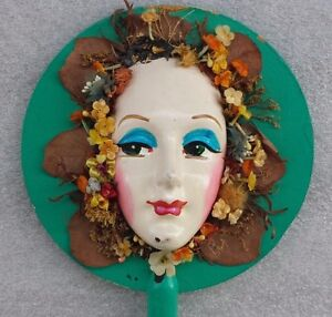 Vintage Female Mannequin Head Folk Art Deco Classic Store Display Antique