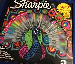 3 Pkgs Sharpie Limited Edition 30 Count Permanent Markers 18 Fine 12 Ultra Fine