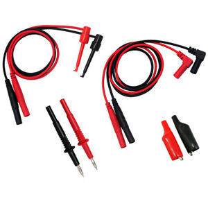 4 Aidetek Test Leads For Fluke Multimeter Tester Tl809 Electronic Test Tlp1070