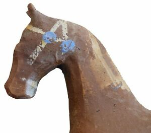 Aafa Antique Folk Art Painted Wooden Pull Toy Horse 1