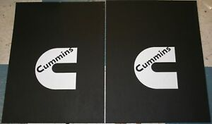 Pair 18 X 24 White Cummins Logo Mud Flaps For Dodge Ram Trucks New Free Ship