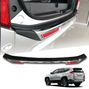 Chrome Black Cover Rear Bumper Outer Guard For Mitsubishi Pajero Sport 2015 2017