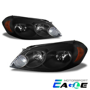2006 2007 Monte Carlo 2006 2013 Chevy Impala Jdm Style Black Headlights Pair