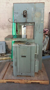 Rockwell Model 20 Vertical Band Saw Variable Speed Metal Cutting