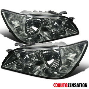 For 01 05 Lexus Is300 Replacement Smoke Front Headlights Driving Head Lamp Pair