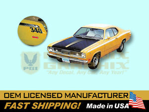 1972 Plymouth Duster 340 W Eyeballs Complete Decals Stripes Kit