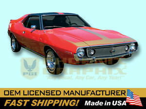 1971 1972 1973 1974 Amc Javelin Amx solid Decals Stripes Kit