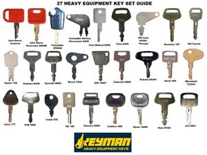 27 Keys Heavy Equipment Construction Ignition Key Set