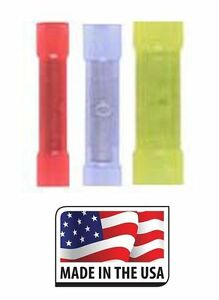1000 Butt Connector Nylon Crimp Style 10 To 22 Gauge Terminal Made In Usa