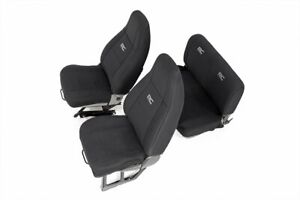 Rough Country Neoprene Seat Cover Sets Black Fits 1991 1995 Jeep Wrangler Yj