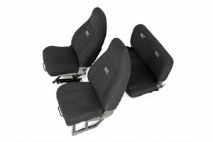 Rough Country 91009 Jeep Neoprene Seat Cover Set Black 91 95 Wrangler Yj
