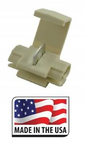 100 Quick Splice Scotch Lock Connector 18 14 Tan Electrical Made In Usa
