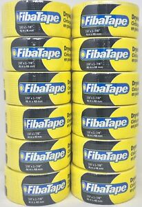 Lot Of 12 Fiba Tape Drywall Joint Tape 150 X 1 7 8 46m X 48mm Free Shipping