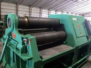 Hydraulic Plate Roll Capacity 1 5 8 1 5 1 1 2 X 10 Ft 4 Roll Cone Rolling