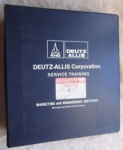 1986 Deutz Allis 5200 Series 6200 Series Tractor Service Training Manual