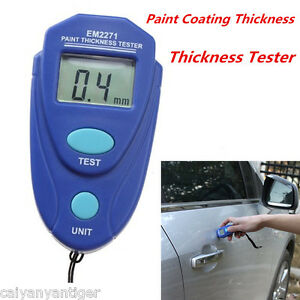 Pocket Size Digital Paint Coating Thickness Meter Gauge Sensor Probe Tester 80mi