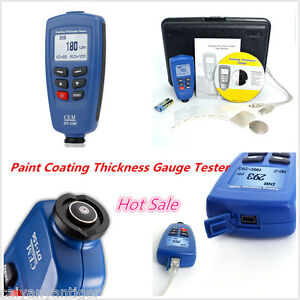 Cem Dt 156 Profession Paint Coating Thickness Meter Gauge Car F nf Probe Tester