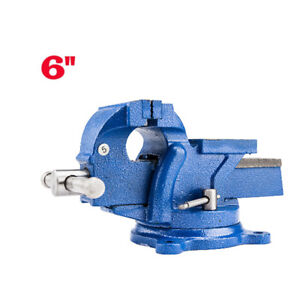 6 Mechanic Bench Vise Table Top Clamp Press Locking Swivel Base Heavy Duty Ca