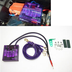 Purple Pivot Mega Raizin Universal Car Fuel Saver Voltage Stabilizer Regulator